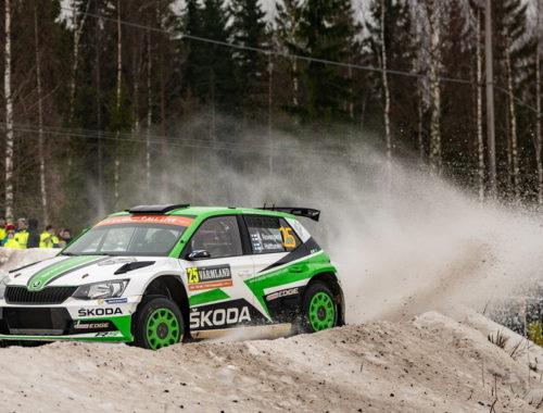 Η Skoda Fabia R5 στη δεύτερη θέση στη Σουηδία - Ροβάνπερα, Χάλτουνεν
