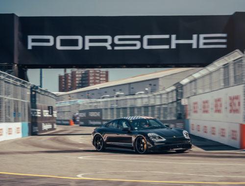 Η Porsche Taycan στο φινάλε της Formula E