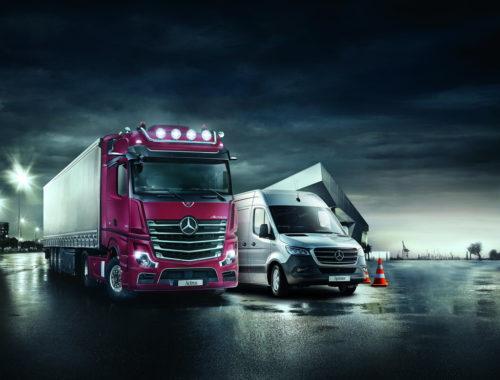 Η Mercedes στοχεύει στην ασφάλεια των επαγγελματικών της οχημάτων