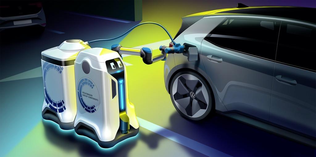 Η Volkswagen παρουσιάζει τα αυτόνομα ρομπότ φόρτισης