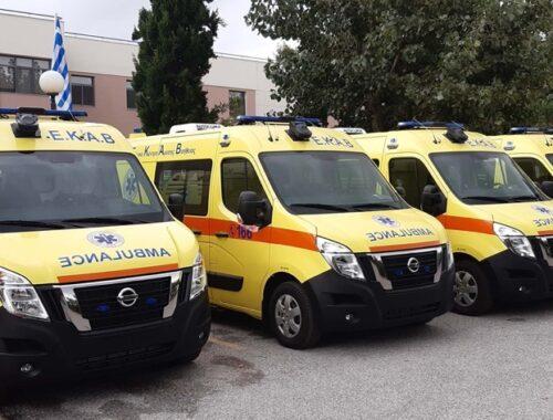 Το ΕΚΑΒ εξοπλίζεται με 25 ασθενοφόρα Nissan NV400